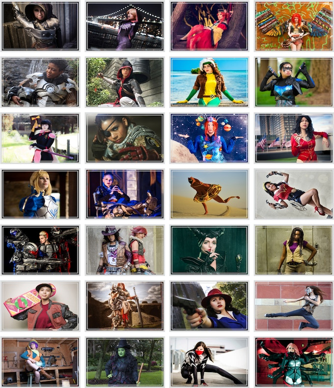 A sneak peek of the amazing photographs and cosplayers!