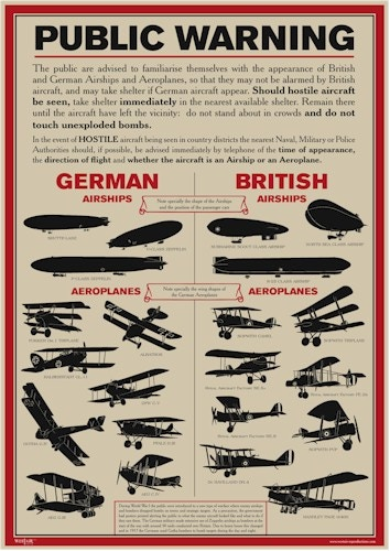 WW1 aircraft recognition poster