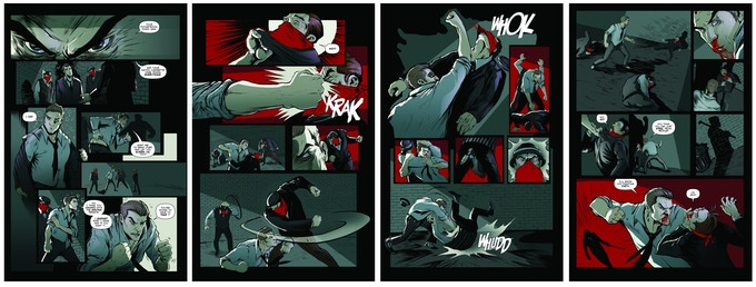Some samples from the graphic novel.