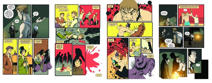 Some samples from the graphic the graphic novel.