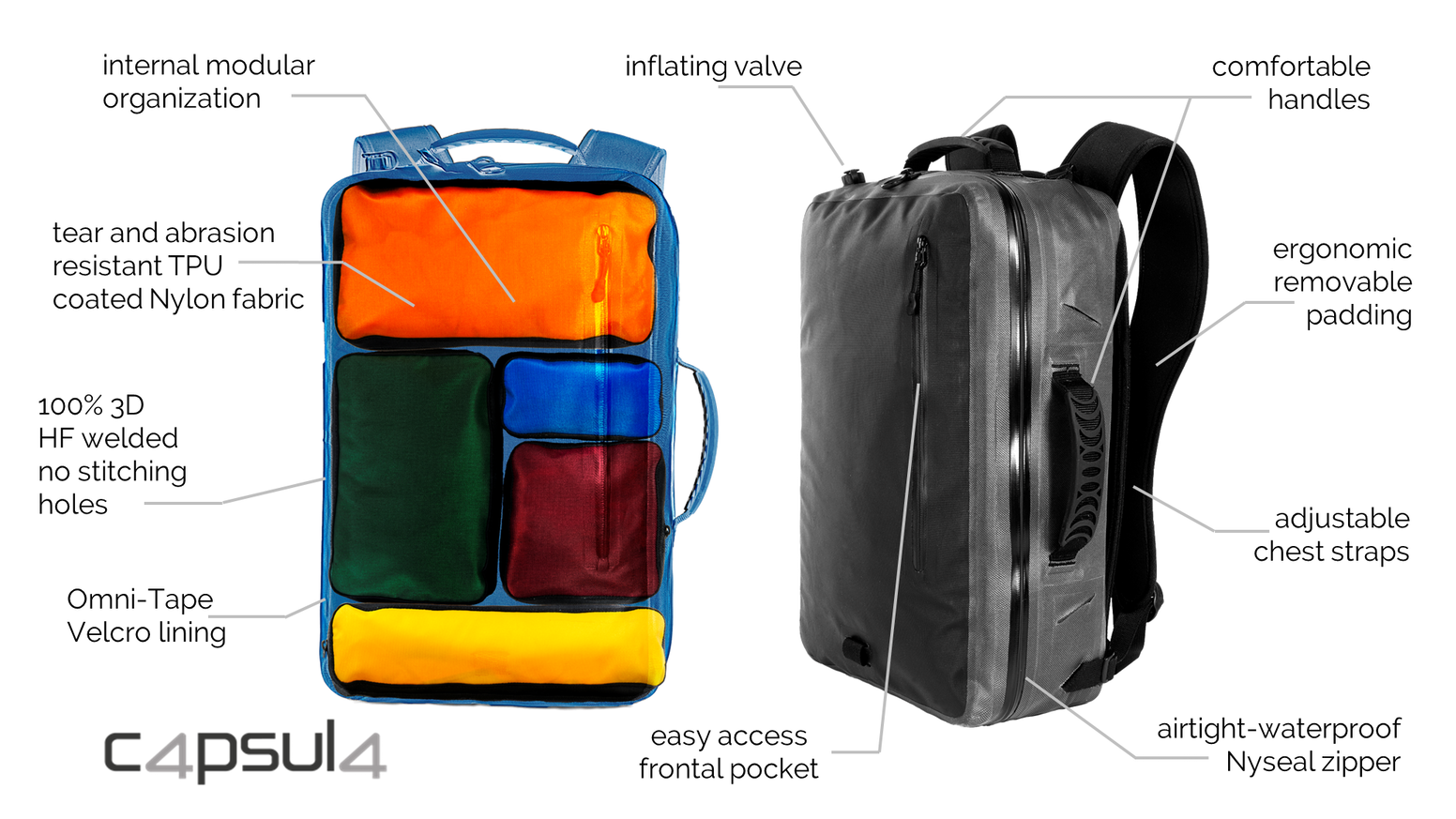 a20767af3b8d43 Anti-Crash, Waterproof, Floating: Capsula Backpack & Bag by ...