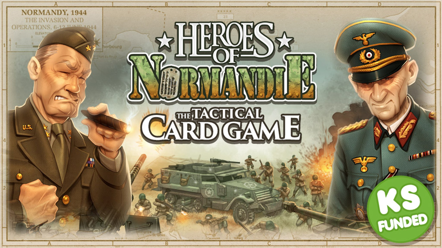"Set in the ""Heroes of Normandie"" universe, this tactical card game sends you to the Normandy battlefields to lead Operation Overlord."