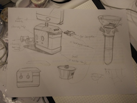 Initial sketches of the detector