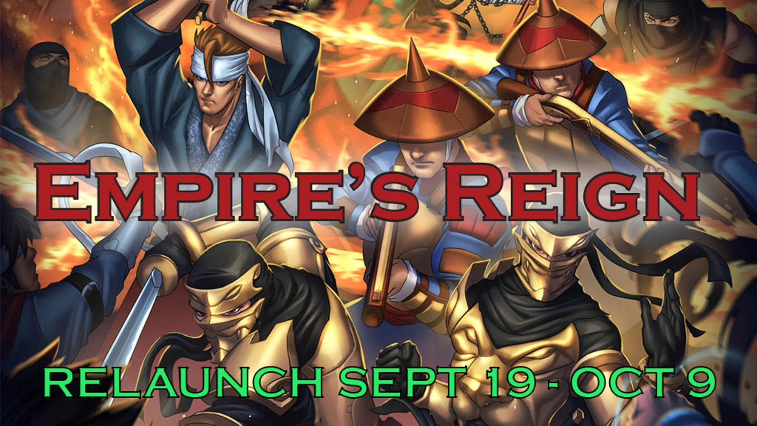 Expand the world of the Ninja Crusade and delve into the Empire's Reign! Meet new character types and new tactics to use in the war.