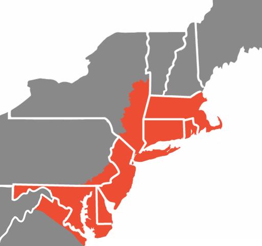 Zone 1 is Marked in Orange