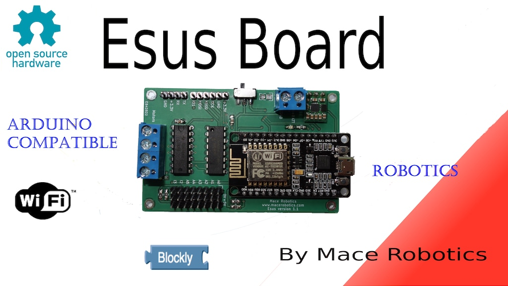 Esus board - Awesome Wifi robotics & IoT controller ! project video thumbnail