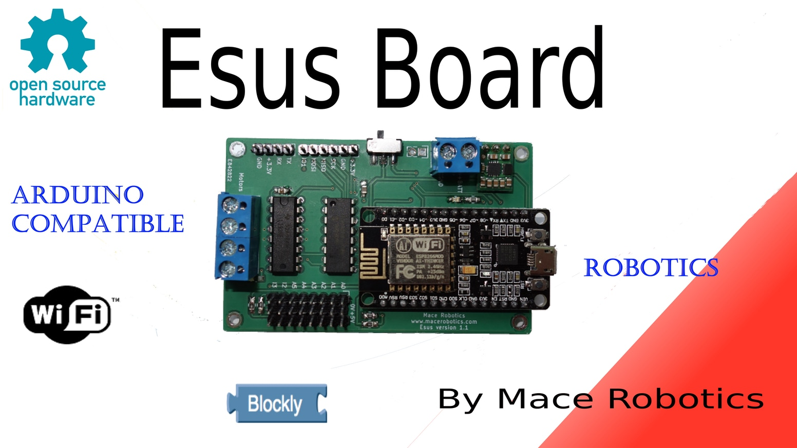 Esus board - Awesome Wifi robotics & IoT controller ! by
