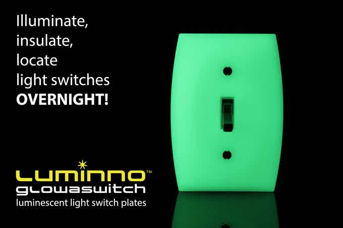 Illuminate, insulate, locate light switches OVERNIGHT! (Toggle version plate shown)