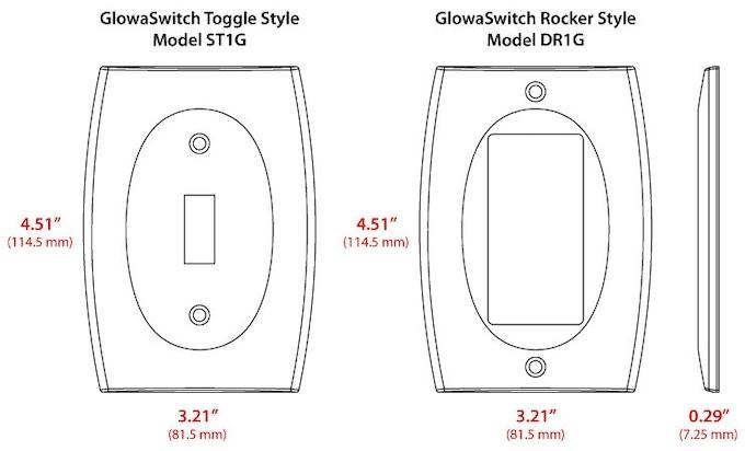 LUMINNO GlowaSwitch dimensions