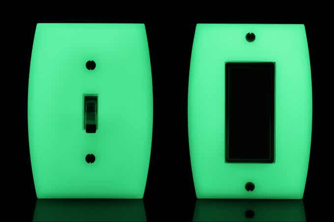 LUMINNO GlowaSwitch Toggle (Model ST1G) and Rocker (Model DRIG)