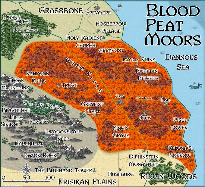 The moors are the home of a hideous witch cult.
