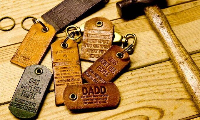 Perk yourself up with these humorous handcrafted key fobs.