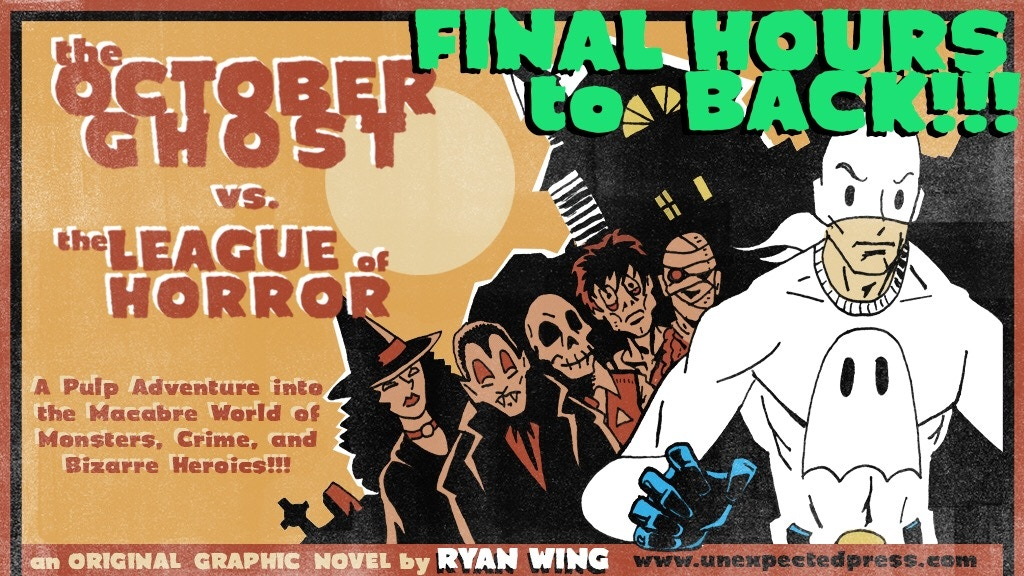 The October Ghost vs. The League of Horror - Graphic Novel project video thumbnail