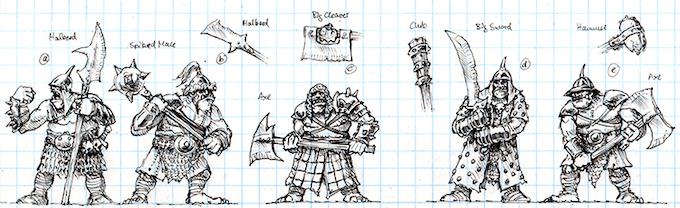 Armoured Ogre Warrior Concept Art