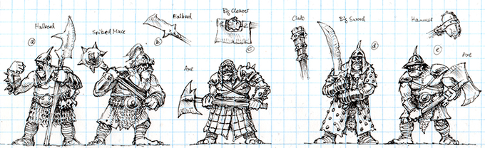 Armoured Ogre Warrior Concept Art