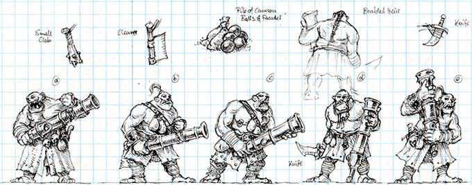 Ogre Cannoneer Concept Art