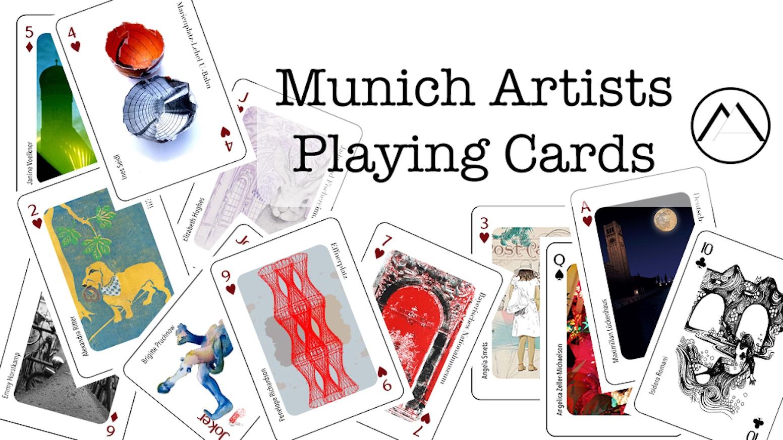Munich Artists designed a Munich themed poker playing card deck celebrating Munich and Bavarian life.