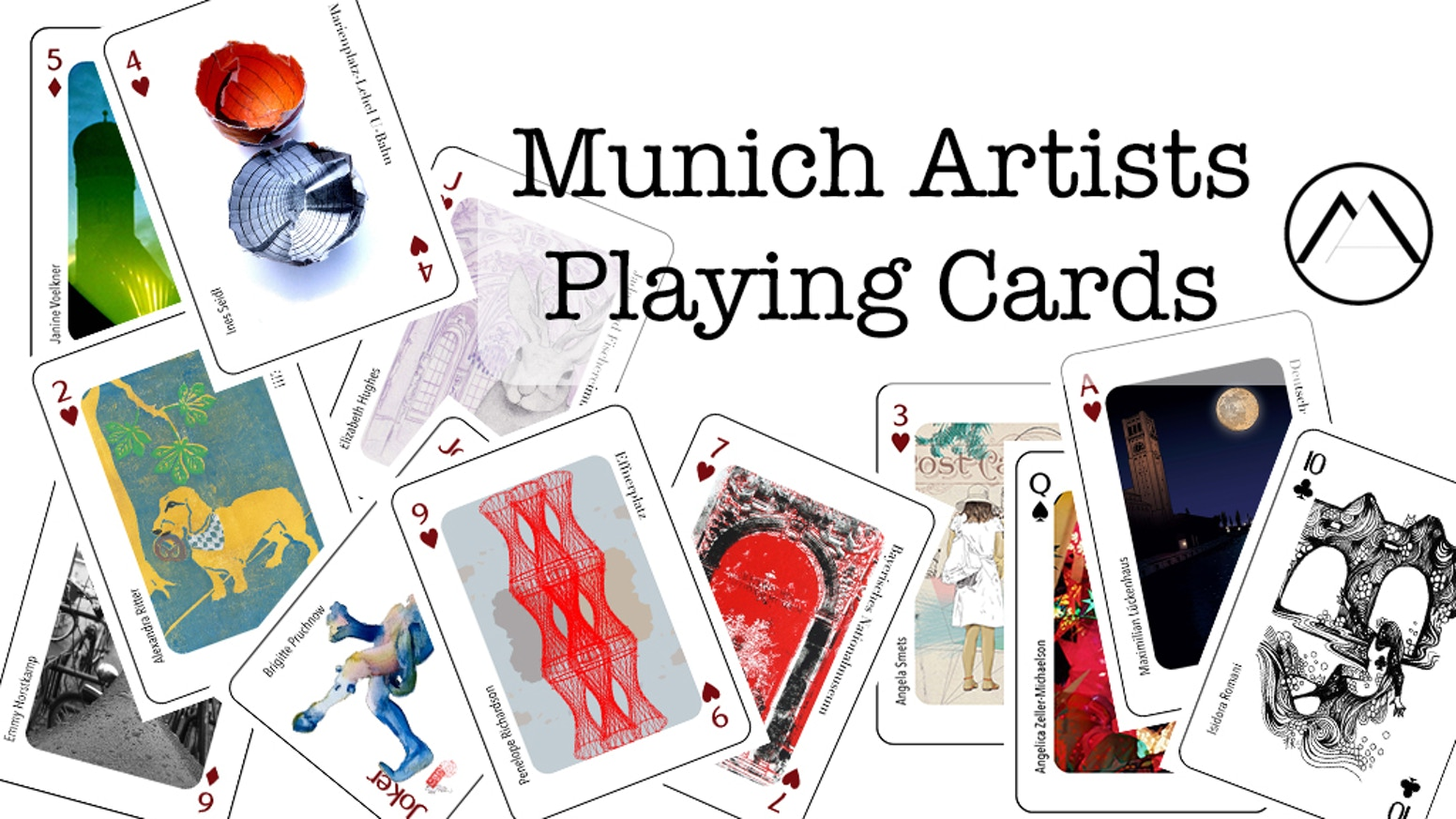 Munich Artists designed a Munich themed poker playing card deck celebrating Munich and Bavarian life.