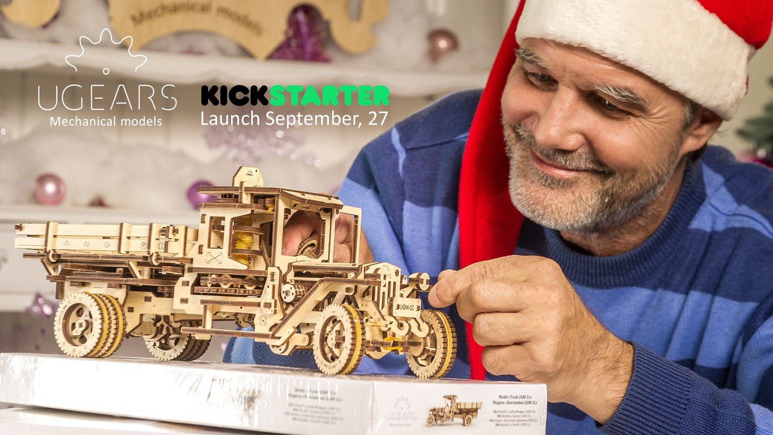 Wooden self-propelled 3D models for self-assembly and hobby. Santa has already ordered one:)