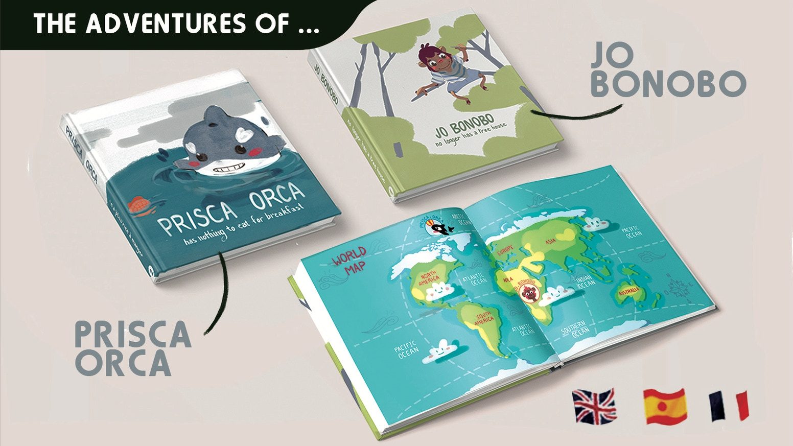 Jo Bonobo & Prisca Orca: The 1st-ever book-series which teach children how to protect our planet while having fun!
