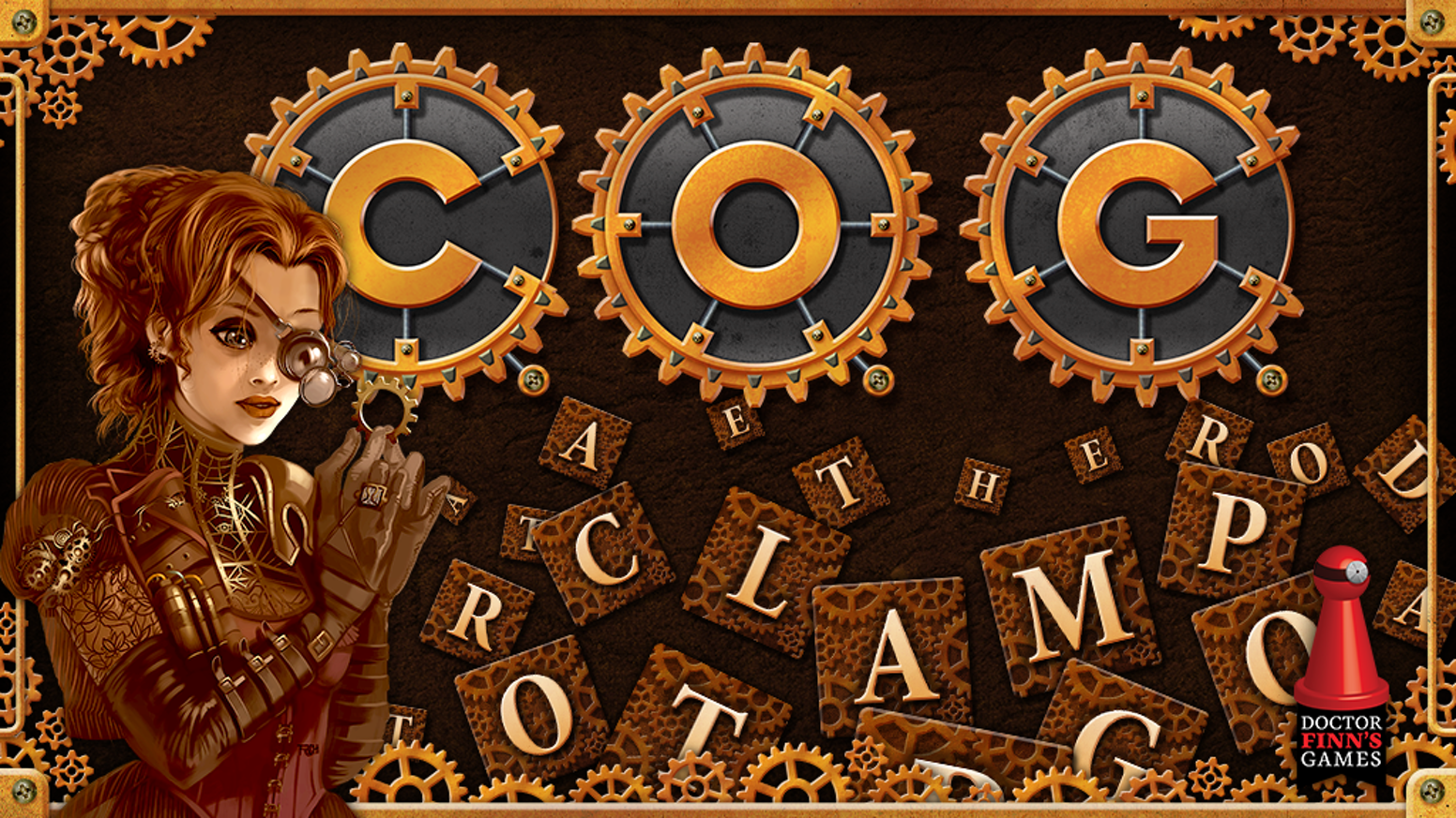 Help the Cabinet of Gadgetry (C.O.G.) build the Great Apparatus in this unique steampunk worker-placement crossword game.