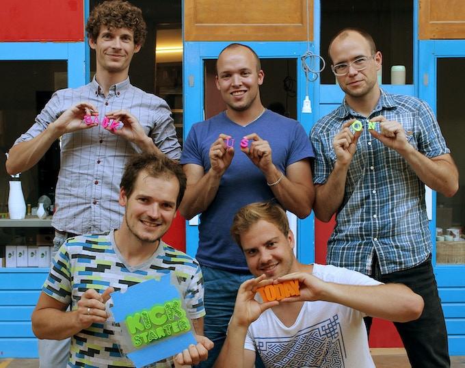 Doodle3D team: (left to right) Nico, Rick, Jeroen, Casper, Peter