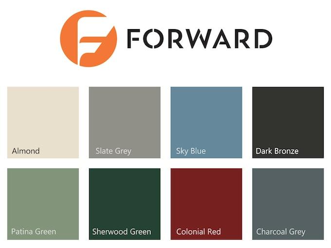 Forward Roofing System Color Palette