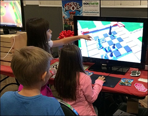 """I like how you shrink down the board and make it easy to learn. A full-sized chess board can be pretty intimidating."" (Seattle Indies Expo)"