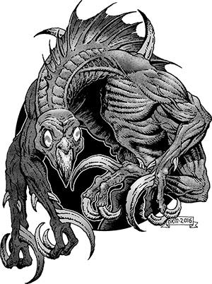 Sneak Peek!  Horror Art from Bradley K McDevitt!