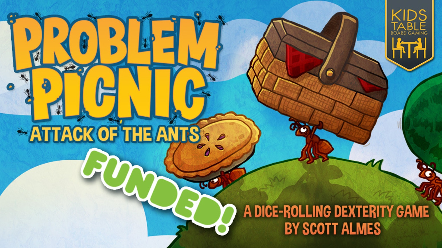 Problem Picnic is a dice-rolling dexterity     family game • by Scott Almes • Art by Josh Cappel. Miss the campaign? Pre-order by clicking below.
