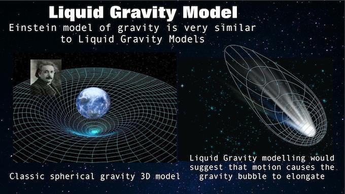 Liquid Gravity Modelling