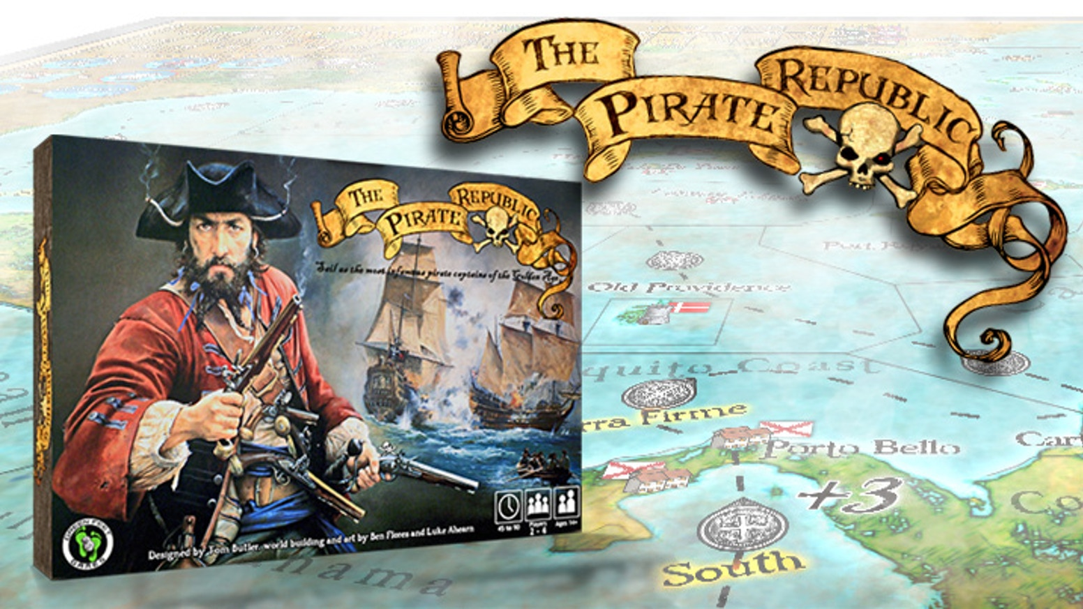 A swashbuckling board-game adventure for 1–5 players eager for pirates, pillage, and plunder on the high seas of the Spanish Main.