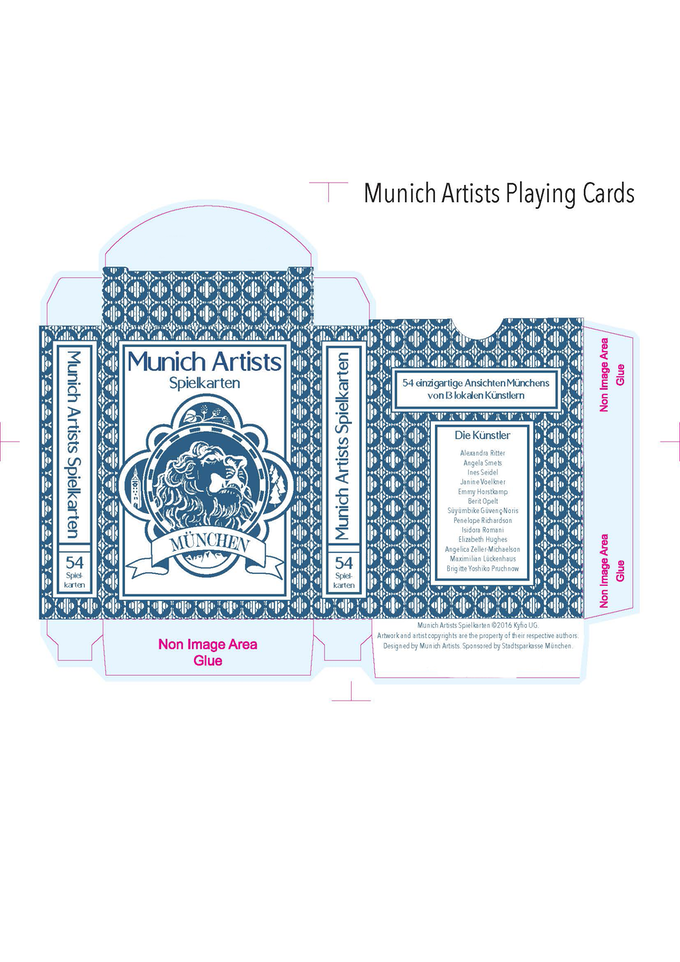 The box for our Deluxe Munich Artists Cards