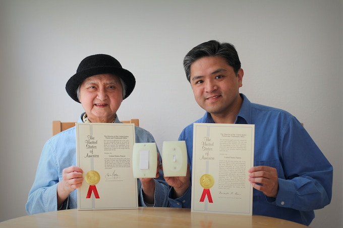 Mother and son inventors of LUMINNO GlowaSwitch: Jane and David Shaw