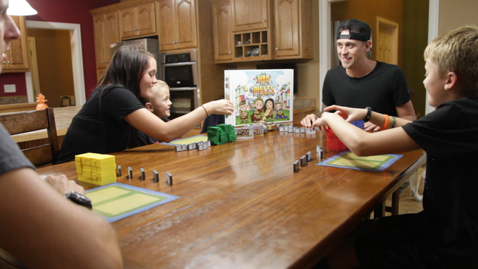My family and me playing War & Pieces