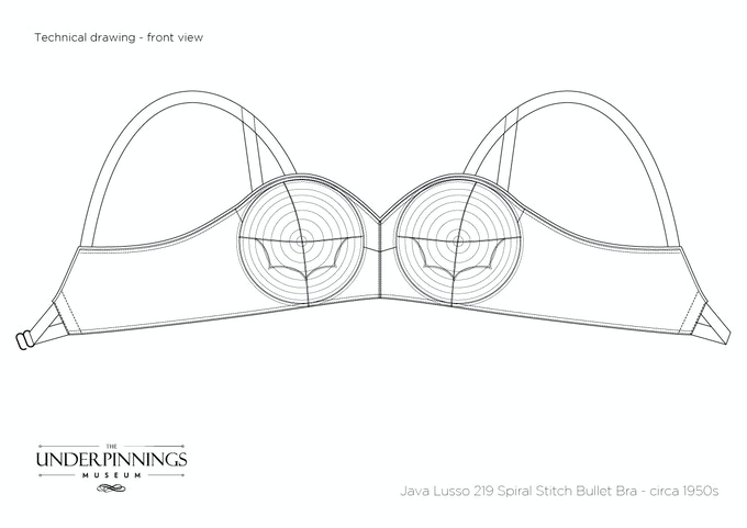 Garment patterns are taken directly from a 1950s spiral stitch bullet bra, a 1950s cathedral boned bra and a 1920s bandeau bras. All patterns will be accompanied with sewing instructions and detailed technical illustrations showing all stitches.