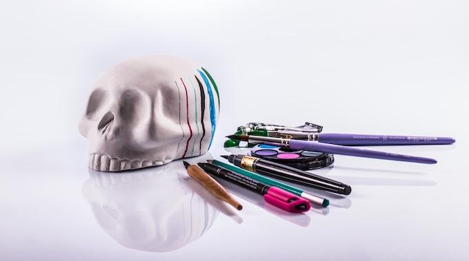 Decorate Skullavera with your favorite technique!