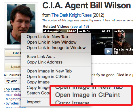 Mock up of Chrome extension, making all images only two clicks away from image editing