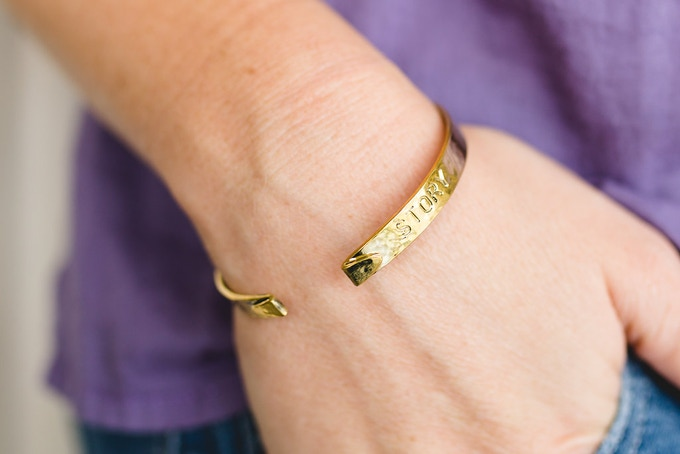 'Tell Your Story' cuff