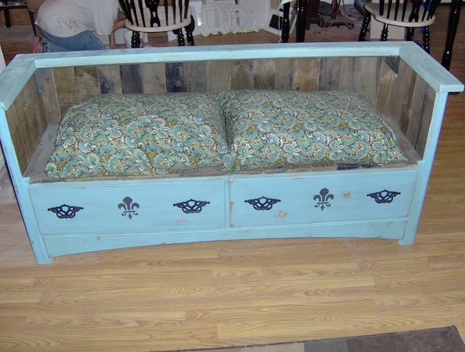 custom built dresser benches