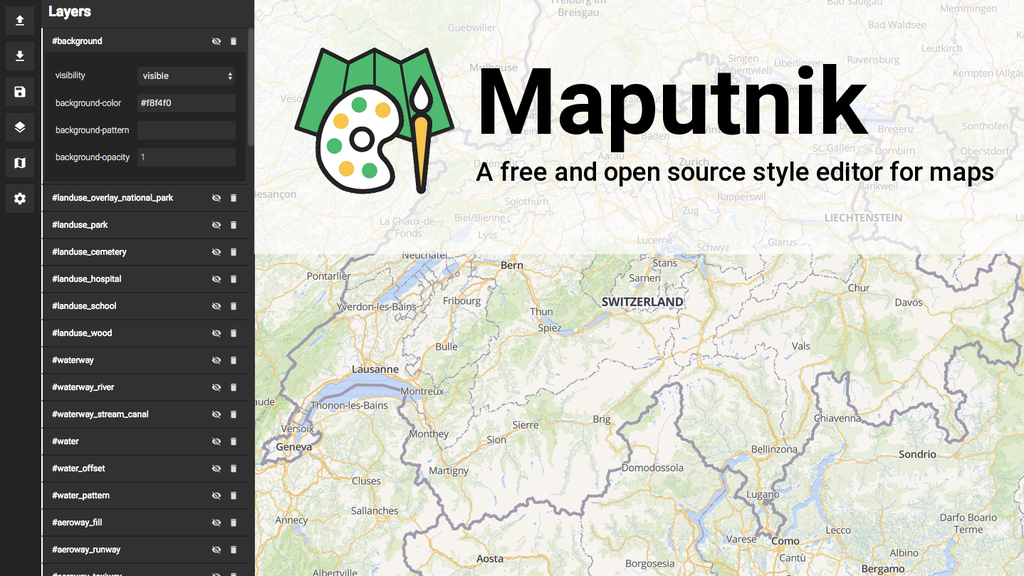 Maputnik visual map editor for mapbox gl by lukas Open source svg editor