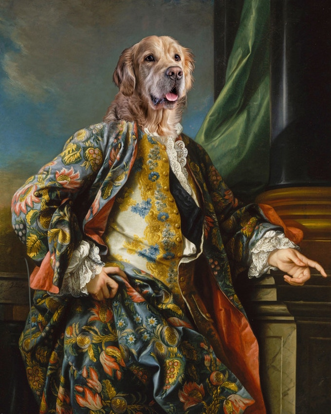 f8500da105ac What do we need from you? Decide what size you would like your Renaissance art  of your pet, 8x10, 11x14 or 16x20. Then purchase the print in the  appropriate ...