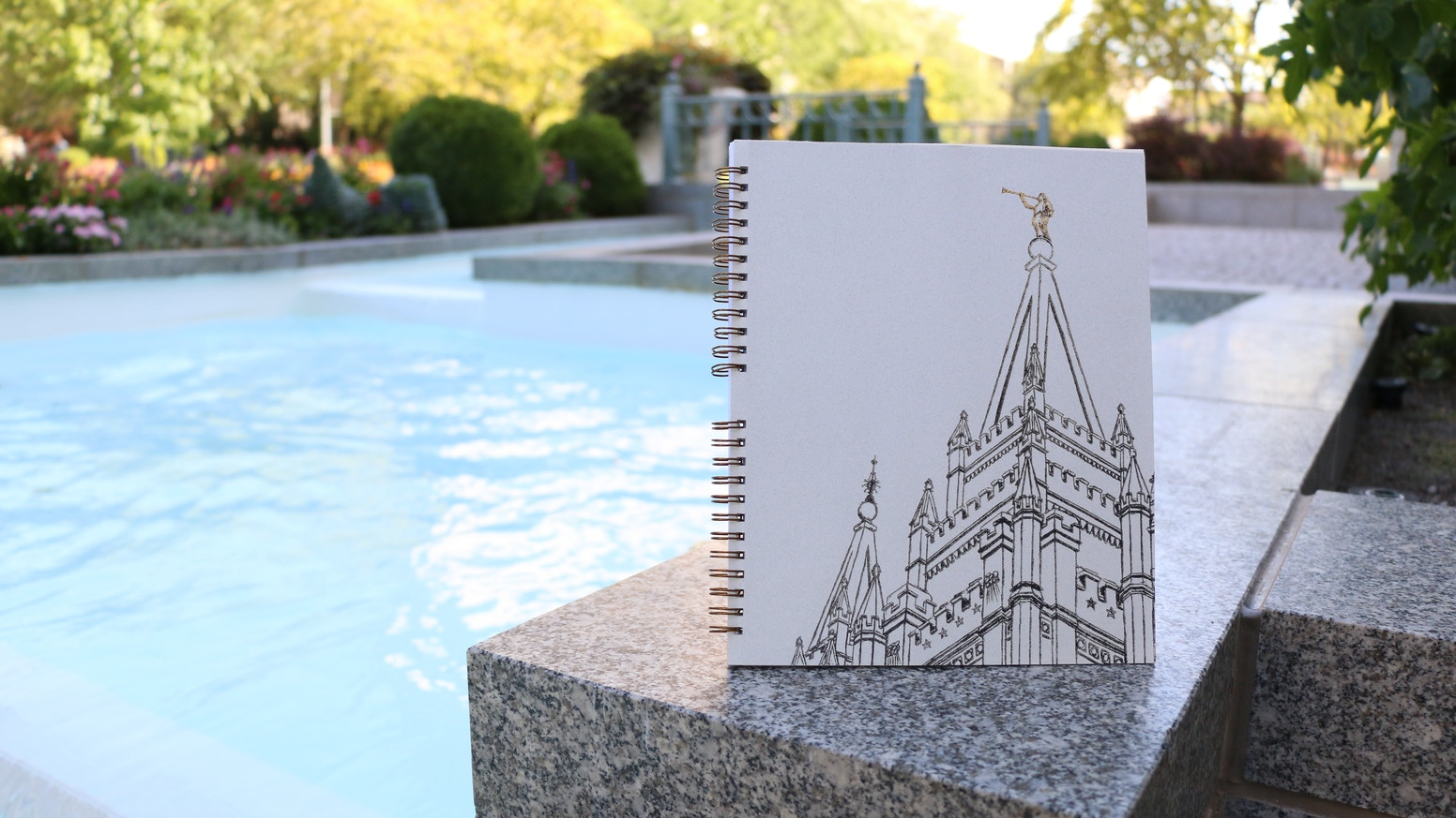 An Elegant And Meaningful Adult Coloring Book Journal Designed Especially For LDS Temple Lovers