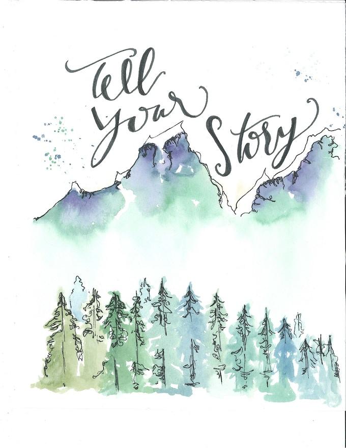 'Tell Your Story' Lyric Print by Jessica Bernardin