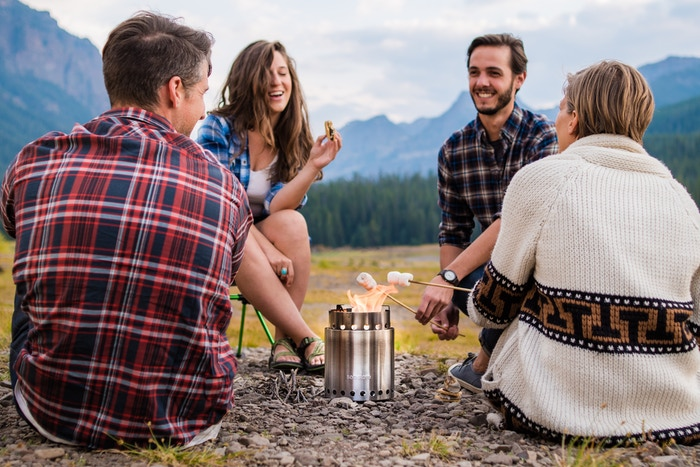 Our fans asked... we made it. A super efficient camp stove that can cook a meal for your family and friends with a handful of sticks.