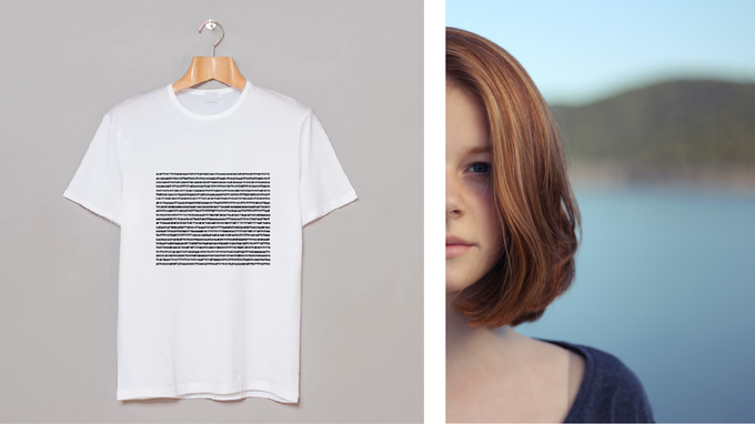 Shirt with Sequence for Red Hair