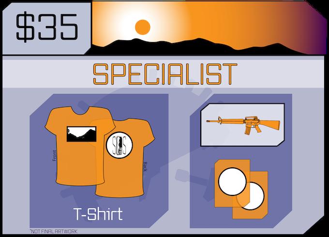 SOS Atlas t-shirt. Includes Ensign.