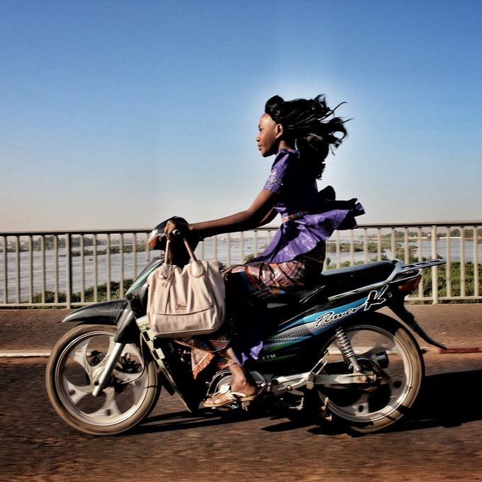 "10"" print option 3: Riding over the Niger River in Bamako, Mali. Photo by Jane Hahn @janehahn"