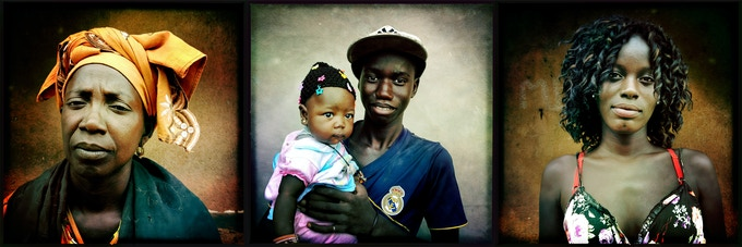 "7x21"" print option 1: Three portraits from Senegal by Holly Pickett @hollypickettpix"
