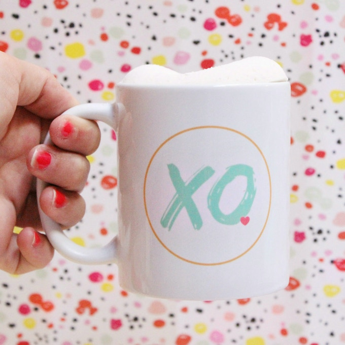 Our XO Mug topped with a Monut is a wonderful gift idea!